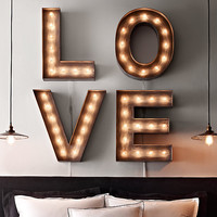 Vintage Illuminated Marquee Letters
