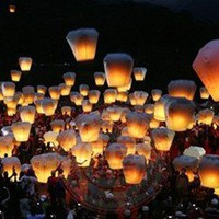10 Pack Floating Chinese Fire Sky Lanterns - Light Up the Night Sky PRAY 1274d