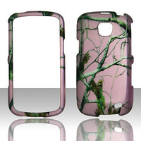 2D pink camo RT Samsung Galaxy Proclaim  hard rubberized feel real cover case