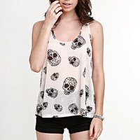 Lira Spring Skull Tank at PacSun.com