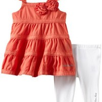 Amazon.com: Calvin Klein Baby-girls Infant Coral Tunic with Leggings, Pink, 12 Months: Infant And Toddler Pants Clothing Sets: Clothing