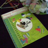 Happy Mothers Day Love Handmade Mothers Day Card by APenny4UrThoughts on Zibbet