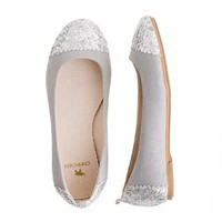 Girls&#x27; glitter toe ballet flats - flats &amp; moccasins - Girl&#x27;s shoes - J.Crew