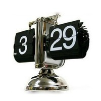 SODIAL Retro Flip Down Clock - Internal Gear Operated