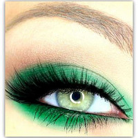 NEW COLOR Vegan Mineral Makeup Eye Shadow Handmade -- Emerald City