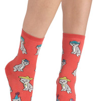 Wearable Whimsy Socks in Kittens | Mod Retro Vintage Socks | ModCloth.com