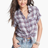 Rubbish® Plaid Shirt (Juniors) | Nordstrom