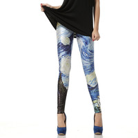 Van Gogh The Starry Night Leggings Pant from Galaxy
