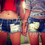 Big &amp; Lil sis shorts,low rise sequin shorts by Jeansonly