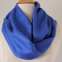 Infinity Scarf - Pashmina- Handmade Royal Blue Loop, Circle, Infinity Chunky Scarf - Year Round Fashion