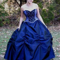 Victorian Gothic Masquerade ball gown skirt ruched | TheSecretBoutique - Clothing on ArtFire