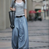 Pretty Grey Blue Bud Skirt -NC054 | StylishLife - Clothing on ArtFire