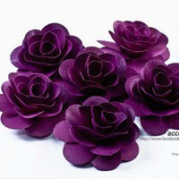 Purple Wood Roses - One Dozen | AccentsandPetals - Wedding on ArtFire