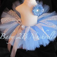Snowflake Blue Toddler Tutu | baby2bnashville - Clothing on ArtFire