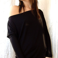 10% discount with coupon code cvetinka10 Love It///// Oversized Off Shoulder Tunic Top With Narrow Sleeves Many Color And Size XS/ S/ M/ L