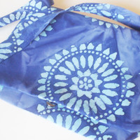 Purple Mandala Tie Dye Batik Crossbody Messanger Bag