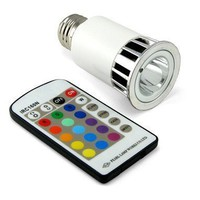 Multi-Color LED Lightbulb w/Remote