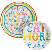 Eat More Cake Plates - Set of 12