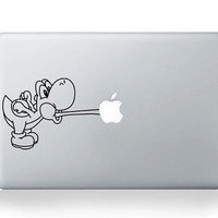 Yoshi  Mac Decal Macbook Stickers Macbook Decals Apple by bestack