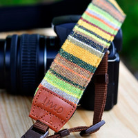 Green Village Camera Strap suits for DSLR / SLR with by iMoShop