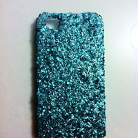 Turquoise Glitter iPhone 4 4s Hard Case by kaylafenton on Etsy
