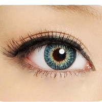 GEO Twins Aqua Colored Contacts Circle Lens
