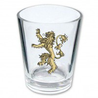 Game of Thrones House Lannister Shot Glass  |    Gift Finder  Our Top Picks  Mugs & Glasses  | HBO Shop - View All