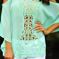 Once Upon A Time Blouse: Mint | Hope&#x27;s