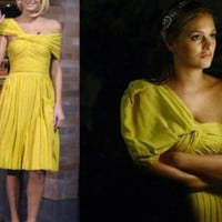 Yellow Cocktail Dress - Juliet Dress | UsTrendy