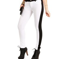 White/Black Tuxedo Knit Pants