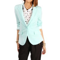 Mint Rayon Boyfriend Blazer