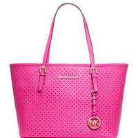 MICHAEL Michael Kors  Small Jet Set Perforated Travel Tote