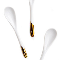 Gold Dipped Porcelain Spoon Set | LEIF