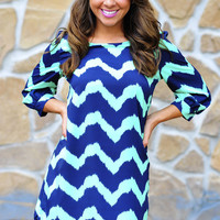 Everything Is A Blur Chevron Dress | Hope&#x27;s