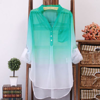 Ombre Blouse - Multi Colors