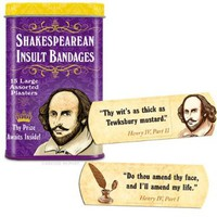 Accoutrements Shakespearean Insult Bandages:Amazon:Toys & Games