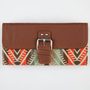 Ethnic Print Flapover Wallet