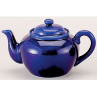 Harold Imports 6 Cup Cobalt Blue Ceramic Tea Pot with Infuser Thermal Dispenser Carafes