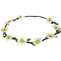 White daisy stretch hair garland - hair accessories - accessories - women