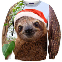 Christmas Sloth Sweater | Shelfies - Outrageous Sweaters