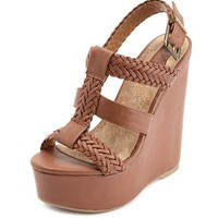 Braided Caged Slingback Wedge: Charlotte Russe