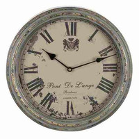 French Seaside Style Decor ~ Boutique de la Mer â?? Pont De L'ange Metal Wall Clock