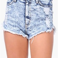 Ri Ri High Waist Short - Dark Blue