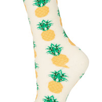 Cream Pineapple Ankle Socks - Tights & Socks - Clothing - Topshop