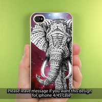 Ornate Galaxy Nebula Elephant Obey iPhone Case for iPhone 5, iPhone 4/4S Hard Cover Plastic