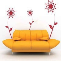 Classy Flowers Vinyl Wall Decal Sticker Graphic | masterdesigndecals - Housewares on ArtFire