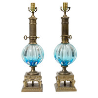 One Kings Lane - Pieces with a Past - Murano Table Lamps, Pair