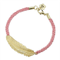 Pree Brulee - Golden Feather Luck Bracelet