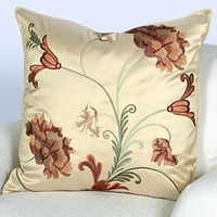 "Pauline Pillow - Wheat 24"" x 24"" 