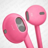 Amazon.com: Hot Pink Rose 3.5mm EarPods with Remote And Mic Latest Model for iPhone 5 &amp; 4S 4G 3GS iPod Touch 5 Nano 7 etc. Compare to MD827LL/A with Crystal Box Retail Package: MP3 Players &amp; Accessories